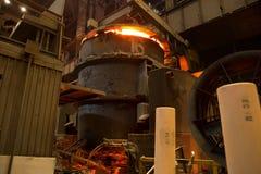 Concha de aço da concha com metal na carcaça metallurgy fotos de stock