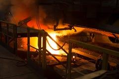 Concha de aço da concha com metal na carcaça metallurgy foto de stock