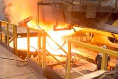 Concha de aço da concha com metal na carcaça metallurgy imagens de stock