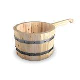 Concha de madeira Fotos de Stock Royalty Free