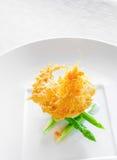 Concha de peregrino de Hokkaido con la salsa de camarón dulce Imágenes de archivo libres de regalías