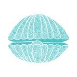 Concha do mar do vetor das garatujas Foto de Stock Royalty Free