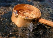 Concha e respingo de bambu Fotografia de Stock Royalty Free