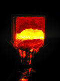 Concha impetuosa de Metallugical com metal Imagem de Stock Royalty Free