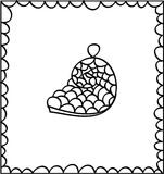 Concha marina decorativa dibujada mano, elemento del diseño Imagen de archivo libre de regalías