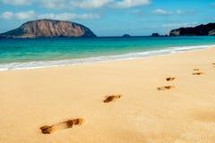 Conchas Beach in La Graciosa, Canary Islands, Spain Royalty Free Stock Photo