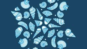 Conchas do mar, pérolas e estrelas do mar como o fundo Uma coleção das conchas do mar para fundos Fundo do Seashell Imagens de Stock Royalty Free