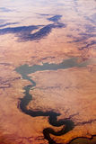 Conchas lake, new mexico, aerial shot Stock Photo