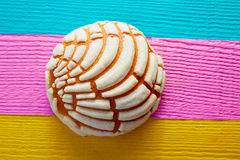 Conchas Mexican sweet bread traditional. Bakery from Mexico Stock Photo