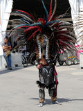 Concheros of Azteekse Dansers in Mexico-City royalty-vrije stock fotografie