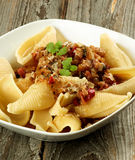 Conchiglie Giganti Pasta Stock Photo