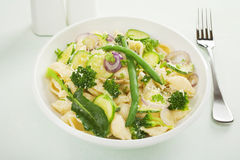Conchiglie Pasta Primavera Stock Photos