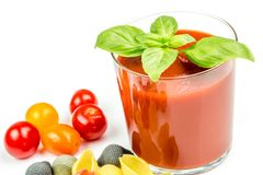 Conchiglie pasta and tomatoes with juice Stock Image
