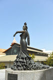 Conchita Aranda, Cadiz flamenco dancer, Santa Maria neighborhood, Andalusia, Spain. Bronze statue of Conchita Aranda, flamenco danser, tribute of the city of Royalty Free Stock Image