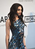 Conchita Wurst. ANTIBES, FRANCE - MAY 22, 2014: Eurovision Song Contest winner Conchita Wurst at the 21st annual amfAR Cinema Against AIDS Gala at the Hotel du stock image