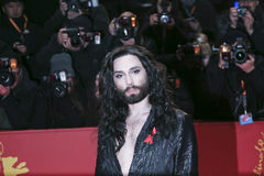 Conchita Wurst arrives for the closing ceremony. Of the 67th Berlinale International Film Festival Berlin at Berlinale Palace on February 18, 2017 in Berlin royalty free stock photo
