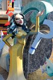 Conchita wurst ninot in Fallas of Alicante, 24 June 2.014 Stock Photo