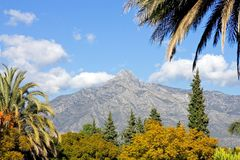 concho la krajobrazu Marbella góry Zdjęcia Royalty Free