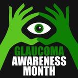 Conciencia del glaucoma Fotografía de archivo