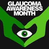 Conciencia del glaucoma Fotos de archivo libres de regalías
