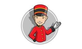 Concierge Mascot Royalty Free Stock Image