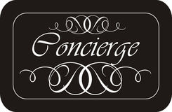 Concierge Sign Royalty Free Stock Photography