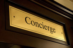 Concierge sign stock image