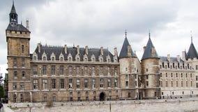 Conciergerie 正义宫殿在巴黎,法国 免版税库存图片