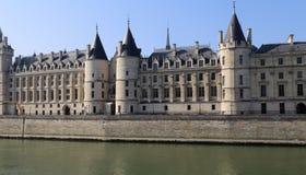 Conciergerie building in Paris, France. Conciergerie building along the Seine river in Paris, France stock photography