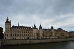 Conciergerie. Is located in the center of Paris on cidai Island, near Sainte-Chapelle and Notre Dame de Paris; the judicial edifice connected to Sainte-Chapelle stock photo