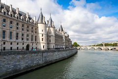 Conciergerie is a former royal palace and prison in Paris Stock Image