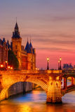 Conciergerie Just After Sunset Stock Photo