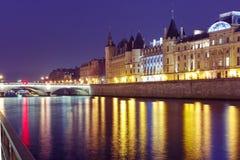 Conciergerie at night, Paris, France Stock Image