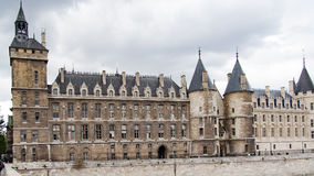 Conciergerie. Palace of Justice in Paris, France royalty free stock images