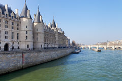 Conciergerie palace in Paris Royalty Free Stock Photos