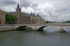 Conciergerie in Paris. Conciergerie is a building in Paris, France, located on the west of the ÃŽle de la Cit. formerly a prison but presently used mostly for stock photography