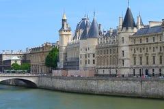 Conciergerie in Paris. Medieval prison (conciergerie) in the center of Paris stock photo