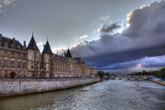 Conciergerie before rain in Paris Stock Photos