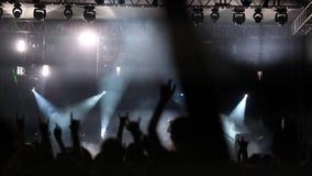concierto almacen de metraje de vídeo