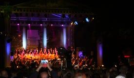 Concierto al aire libre de la música de la ópera del festival 2013 de Riga. Imagen de archivo libre de regalías