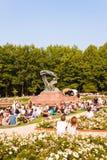 Concierto al aire libre del piano en el parque real del azienki del  de Å, Varsovia Fotos de archivo