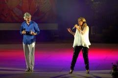 Concierto búlgaro de los cantantes Imagenes de archivo