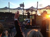 Concierto de Bon Jovi en Munich fotos de archivo