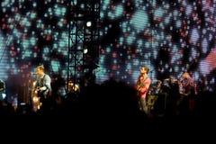Concierto de Coldplay imagenes de archivo