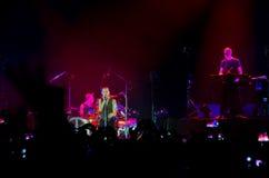 Concierto de Depeche Mode en St Petersburg Imagenes de archivo