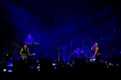 Concierto de Depeche Mode en St Petersburg Foto de archivo