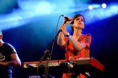 Concierto de Femme del La (banda) en el festival de la BOLA Foto de archivo libre de regalías
