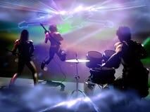 Concierto de la banda de rock ilustración del vector