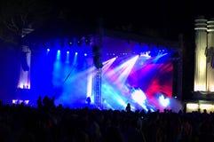 Concierto de la celebración de la ciudad de Varna Imagen de archivo libre de regalías