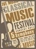 Concierto de la música clásica Fotografía de archivo